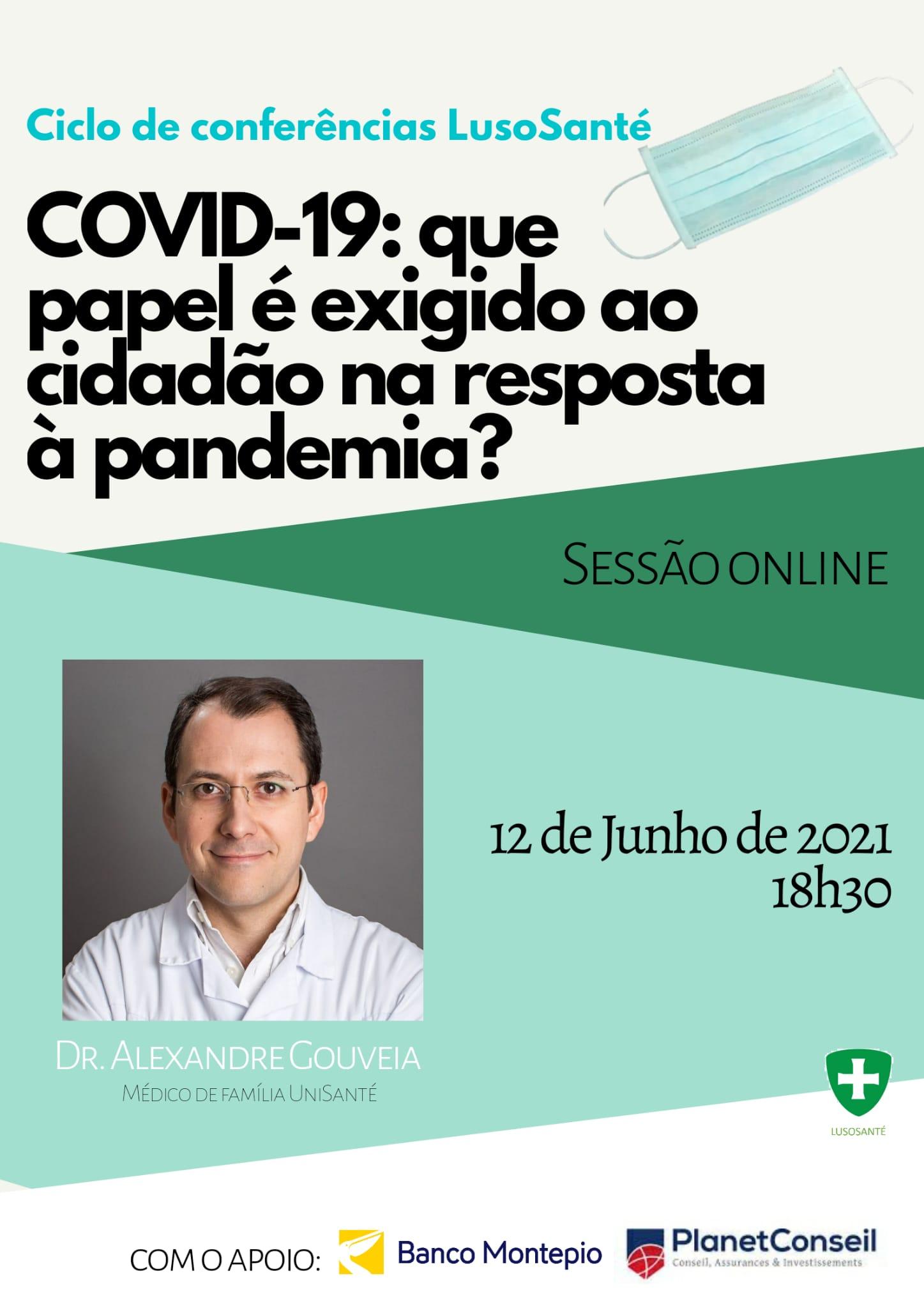 COVID-19: Que papel é exigido ao cidadão na resposta à pandemia